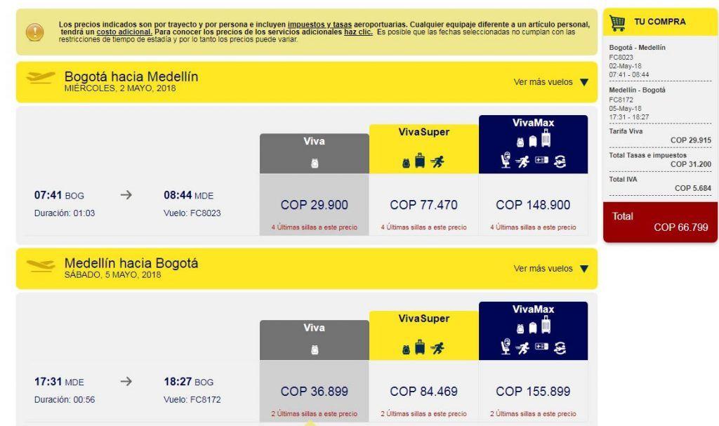 OFERTA DE TIQUETES A $ 29.900 EN VIVACOLOMBIA 2