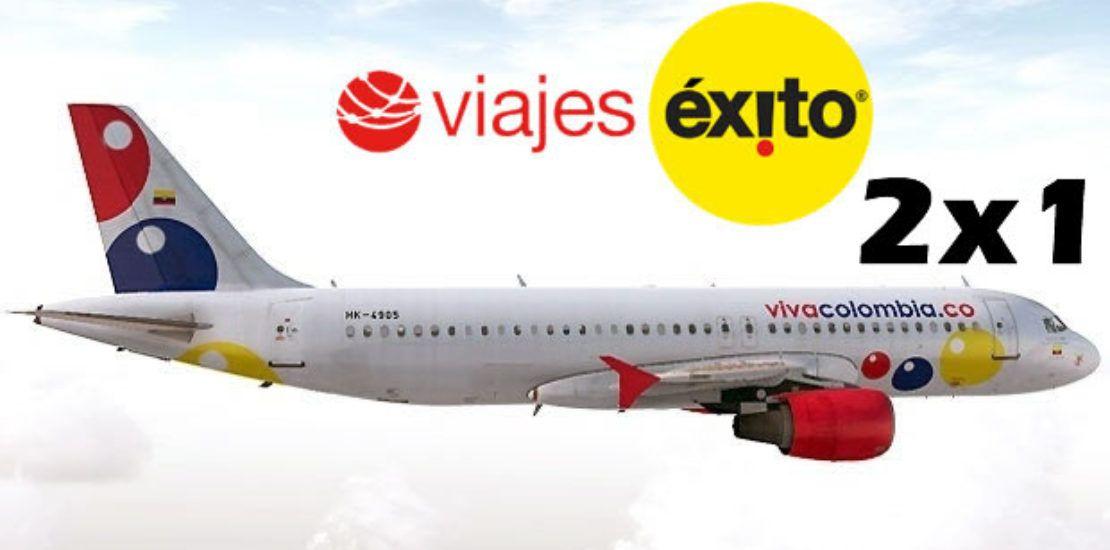 viva air 2x1 en viajes exito