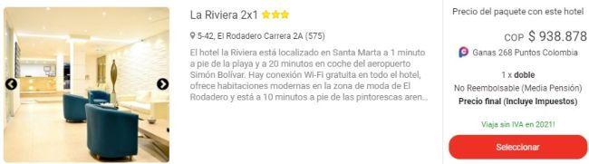 viajes exito la riviera 2x1